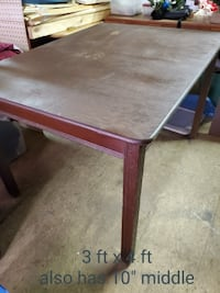 older wood table  3 ft x 4ft with 10 inch leaf. College Park