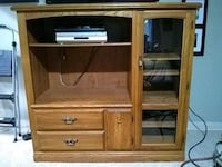 brown wooden TV hutch with flat screen television Mauston, 53948