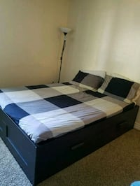 Queen bed and mattress with storage Tempe