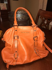 women's orange leather shoulder bag Manalapan, 07726