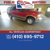 2001 Ford Excursion Limited Joppa, 21085