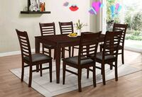 Cappuccino  dinette set eith 6 chairs ( new ) Hayward