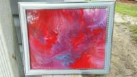 Framed Original abstract painting. Howell, 07731