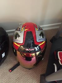 black, red, and gray full face helmet Moose Jaw, S6H 5P3