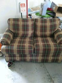 brown and red plaid sofa chair New Market, 21774