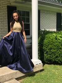 Prom dress! Blue and gold size 3/4 Mount Juliet, 37122