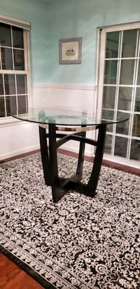 High top glass table