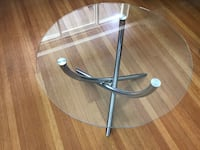 round clear glass top table Vancouver, V6J 1L4