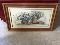 Picture with nice oak frame - perfect size for over couch or chair. Eagan
