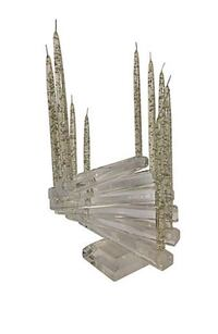 "Vintage 1970's Substantial Lucite ""Spiral Staircase"" 12-Light Candelabra  Washington, 20015"