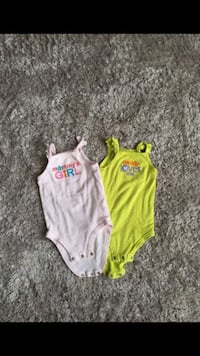 baby's two green and pink onesies Raleigh, 27616
