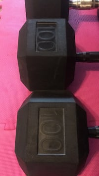 100lbs dumbbells for sale. Price 380firm