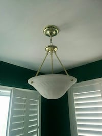 brass framed frosted glass dome light Mississauga, L5M