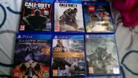 six cas de jeu PS4 assortis Esbly
