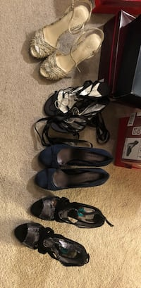 three pairs of black and brown sandals Paterson, 07501