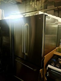 Ge stainless steel French doors brand new scratch  Baltimore, 21223
