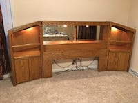 Solid Oak Queen Headboard Sherrills Ford