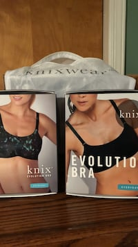 2 Knix Bras. Size 6. $20.00 each. Brand new in the box. Never worn Andover, 07821