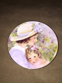 5X5 small Mother's Day plate collection 1996