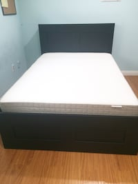 Queen bed with 4 drawers + mattress  Arcadia, 91006