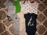 7 Baby boy onesies set | rarely used | Good condition | Size: 3 to 6 months Silver Spring, 20906