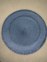 (6) blue round placemats  Kissimmee, 34746