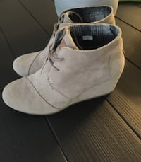 Toms - taupe wedge