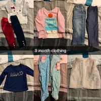 9 month clothing  Edmonton, T5T 4W7