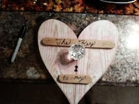 Handcrafted heart with old Crystal knob