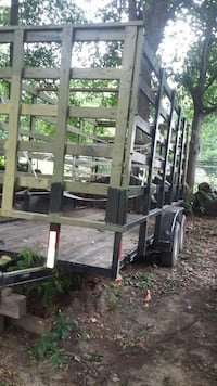 grey and black utility trailer