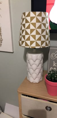 white and red table lamp Portsmouth, 02871