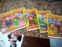Curious George set of 5 DVD Franklin, 02038