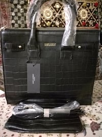 Christmas  gift, black bag with pouch