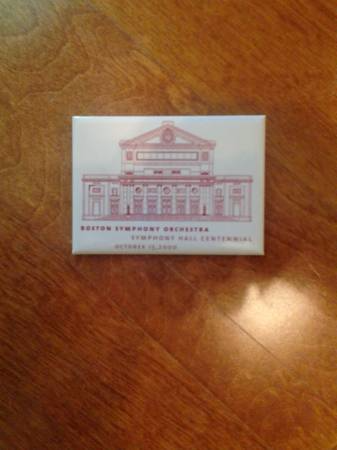 Boston Symphony Hall Centennial pin Vienna, VA 22182, USA