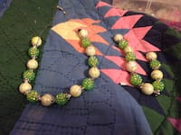 White and green beaded necklaces set Arvada, 80004