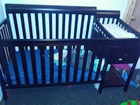 Baby's brown wooden crib Indianapolis, 46201