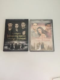 Twilight Breaking Dawn 1 and 2 DVD case