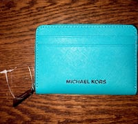 Michael Kors Blue Leather Zip Wallet Indian Trail