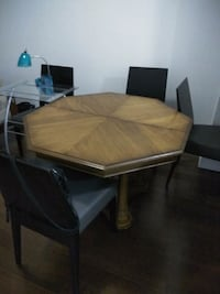 brown wooden dining table set Vaughan, L4L 1A6