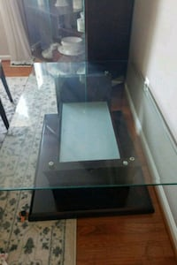 black wooden framed glass top table Nottingham, 21236
