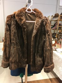 brown and black fur coat Victoria, V8W 1T3