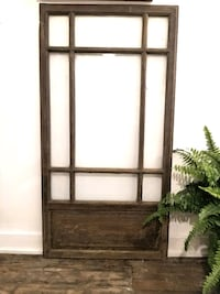 Big old wood window with glass intact
