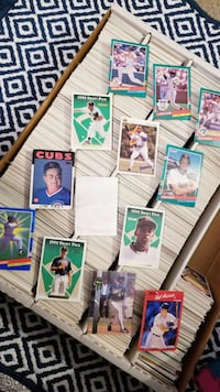 Collectible vintage baseball cards