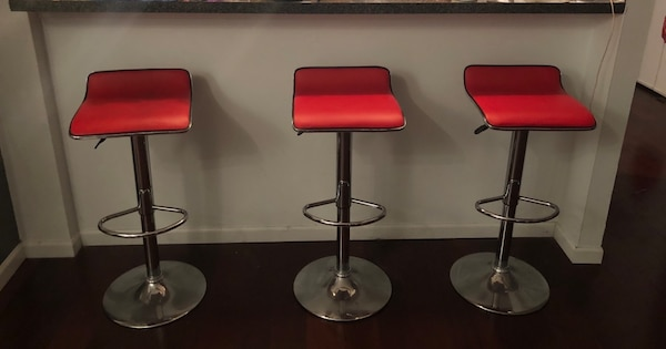 Wondrous 3 For 30 Red Faux Leather Bar Stools Alphanode Cool Chair Designs And Ideas Alphanodeonline