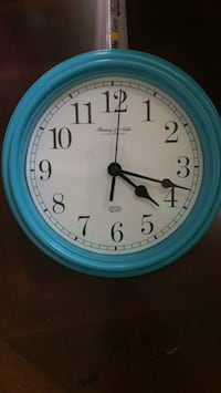 round blue and white analog wall clock Bloomfield, 06002