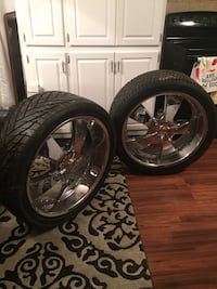 Great deal! 4 tires and Star Mag Wheels Amarillo, 79118