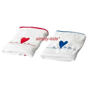 GULLUNGE - Ikea Baby Nursery Changing table pad COVERS set of 2 white