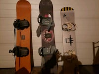 3 mint snow boards with solid bindings hardly used Edmonton, T5A 1R5