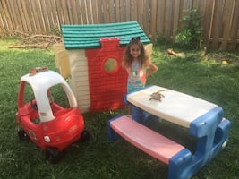 Little tikes Play House, fire truck table and more......