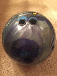 Black and gray bowling ball 249 mi